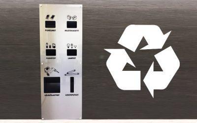 MCU-kierrätyspiste tarjoaa tyylikkään kierrätysratkaisun kompaktissa koossa